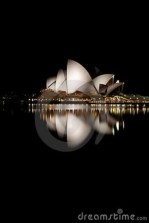 Opera House Night at Night Editorial Stock Photo