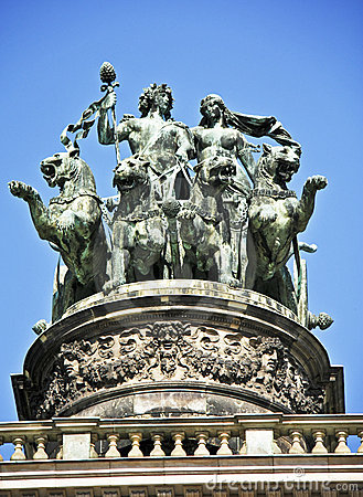 Opera House Statue in Dresden