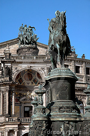 Opera House Statues In Dresden, Germany