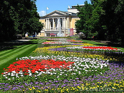 Opera House in Summer time at Halle, Germany Editorial Photo