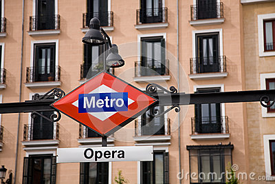 Opera Metro, Madrid Editorial Image