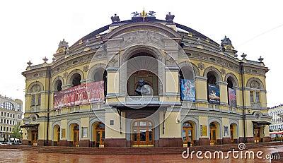 Opera nacional de Ucrânia, Kiev Fotografia Editorial