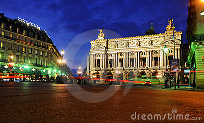 Opera by Night, Paris Editorial Photography