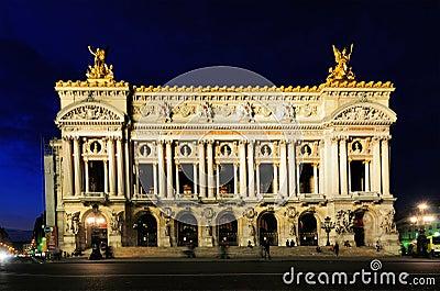 Opera by Night, Paris Editorial Photo