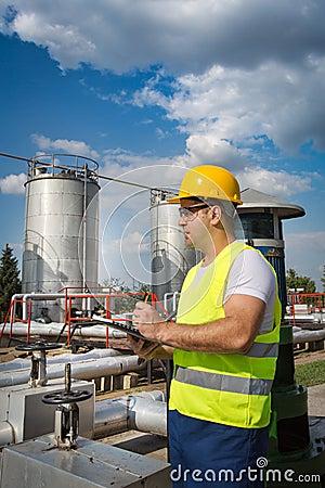 Operador da produção de petróleo e gás