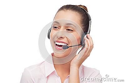 Operador do centro de chamadas