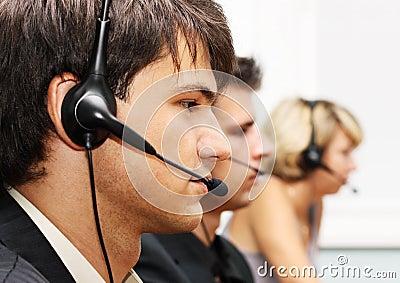 Operadores del servicio de atención al cliente
