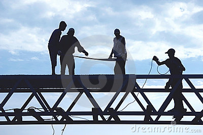 Operai della siluetta