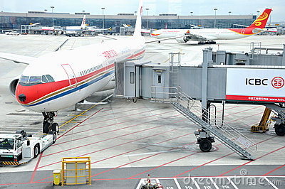 Operation in Hongqiao Airport, Shanghai, China Editorial Stock Photo