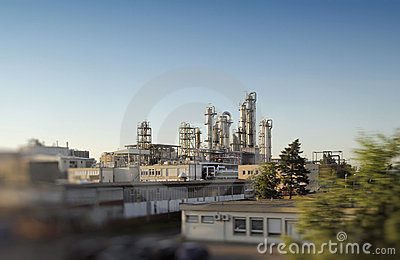 Operational petrochemical plant gas