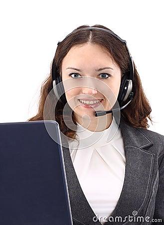 Operator brunette business