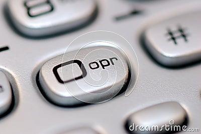 Operator button