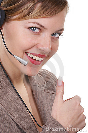 The operator communicates with the client