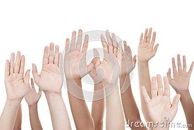 Opgeheven handen