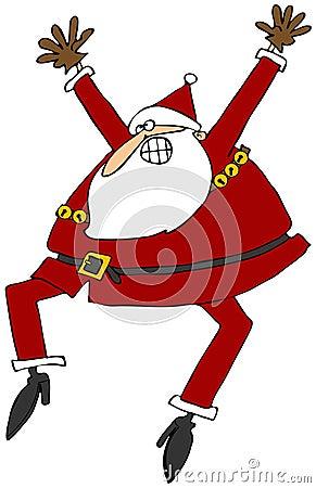Opgewekte Kerstman