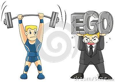 Opheffen van uw EGO is zwaar