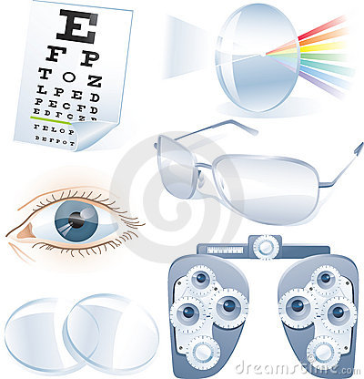 Free Ophthalmology Vector Icon Set Royalty Free Stock Photo - 8454425