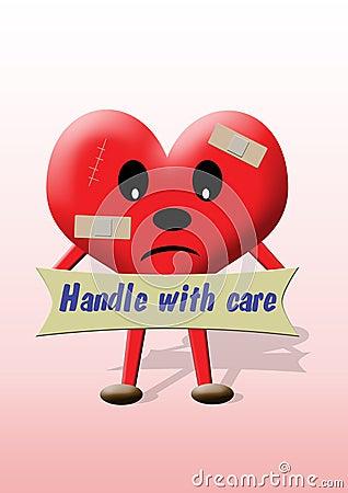Opieki rękojeści serce