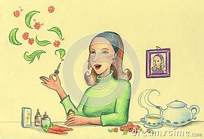 Opieki zdrowie ziele