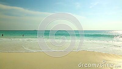 Opinión asombrosa sobre Eagle Beach de la isla de Aruba caribbean metrajes