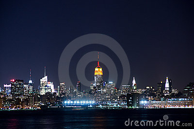Opinião de Manhattan da cidade de Jersy