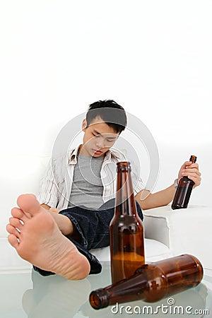 Opiły mężczyzna