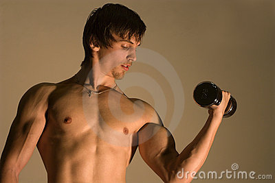 Opleiding van de bodybuilder