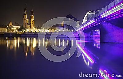 Opole by night