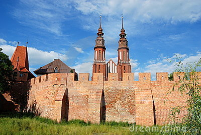 Opole, Poland: Medieval Walls and Cathedral