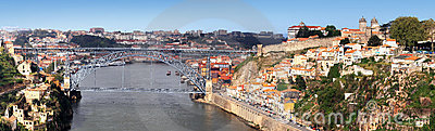 Oporto and Douro River, Portugal Editorial Stock Image