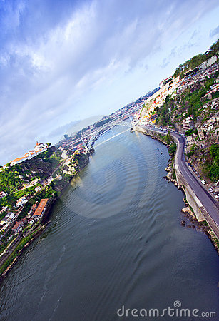 Oporto and Douro River, Portugal Editorial Photo