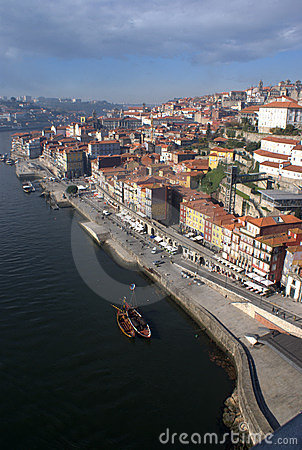 Oporto River Front on Portugal
