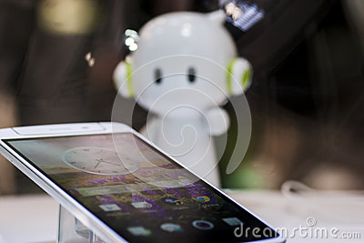 OPPO N1, MOBILE WORLD CONGRESS 2014 Editorial Image