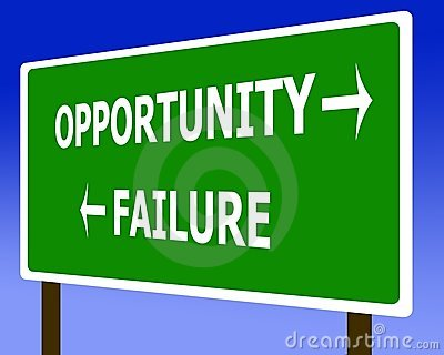 Opportunity failure sign symbol