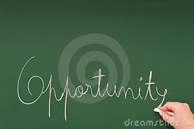 Opportunity written on a blackboard