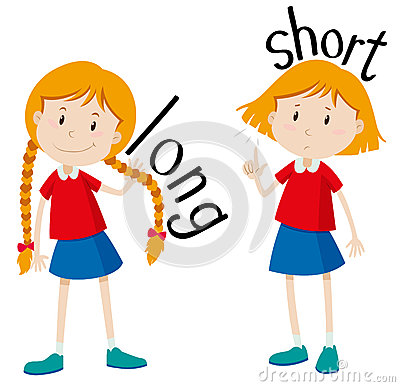 Free Opposite Adjectives Long And Short Royalty Free Stock Photography - 60924397