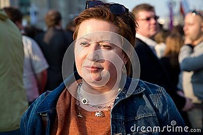 Opposition activist Olga Romanova Editorial Stock Photo