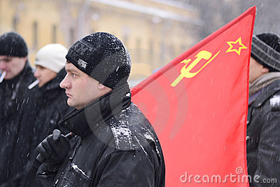 Opposition rally in St. Petersburg Editorial Photo
