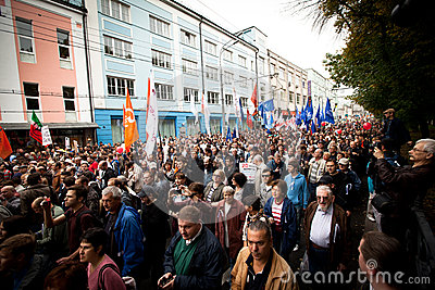 Opposition supporters gather for a protest rally Editorial Stock Image