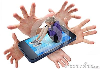 Oppressione del telefono cellulare