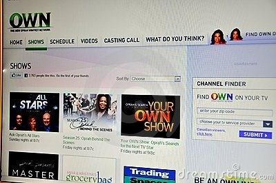 Oprah television OWN Editorial Image