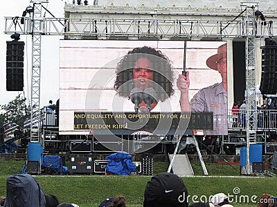 Oprah Winfrey Speaks Editorial Image