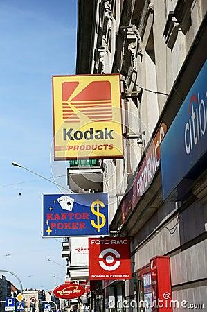 Opslag en winkels Redactionele Foto