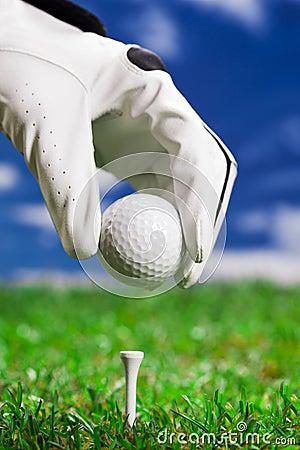 Opstelling de golfbal!