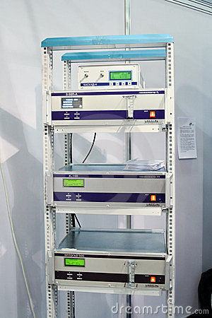Optec rack with gas analyzer devices Editorial Photography