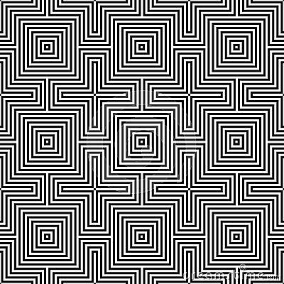 Optic illusion.geometric seamless pattern