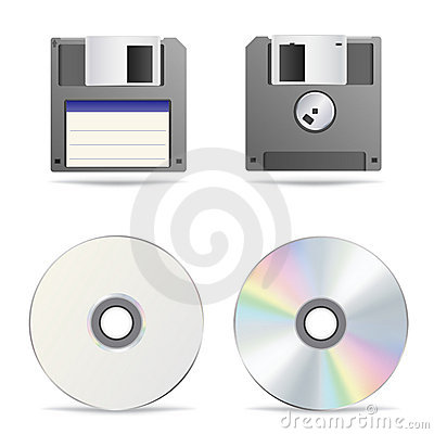 Free Optical And Floppy Disc Royalty Free Stock Image - 20261436