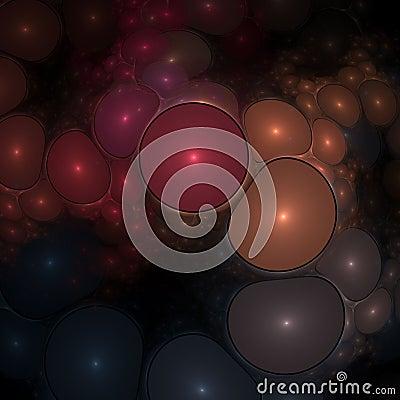 Optical Art Multiple Blobs Fractal 01