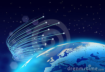 Optical fibres internet speed planet