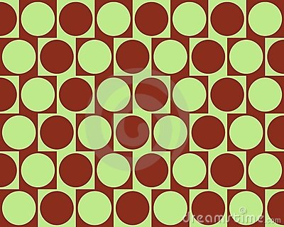 Optical Illusion Cafe Wall Effect Circles Deep Red